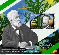 TOGO 2014 SHEET JULES VERNE WRITERS ESCRITORES Tg14420b - Togo (1960-...)