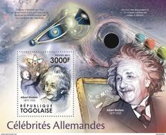 TOGO 2011 SHEET GERMAN CELEBRITIES ALBERT EINSTEIN NOBEL PRIZE CELEBRITES ALLEMANDES CELEBRIDADES ALEMANAS Tg11504b - Togo (1960-...)
