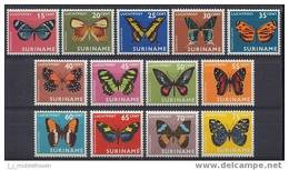 Suriname Airmail NVPH Nr 47/59 Postfris (MNH, Neuf Sans Charniere) Butterfly, Papillon, Vlinders, 1972 - Suriname ... - 1975