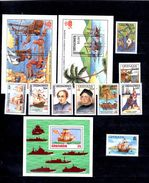 Set Of Stamps_Colon_Colombus_Colomb_ships_Grenada - Christopher Columbus