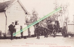 "HOPITAL ADOLPHE STAPPAERTS - Splendide Carte Animée Avec Attellage ""ambulance"" - Cartes Postales"