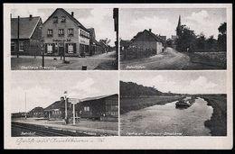 AK/CP Amelsbüren Bahnhof  Gasthaus   Münster   Gel/circ. Ca.1950  Erhaltung/Cond. 2  Nr. 00026 - Muenster