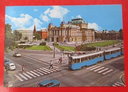 A3-Postcard-Zagreb,Old Cars,Tram Car - Croazia