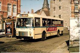 """BRUXELLES (1050) : Un Arrêt De La Ligne Du Bus 59 """"HÔPITAL D'ETTERBEEK-IXELLES"""". Carte-Photo Rare. - Transport Urbain En Surface"""