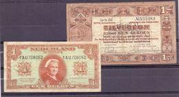 Nederland 3 X 1 Gulden + 3 X 2,5 Gulden + 1 Gulden Nederlands Indië - 2 1/2 Gulden
