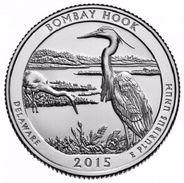 USA EEUU 25 CENTS. QUARTER DOLLAR  BOMBAY HOOK 2015  D O P  A ELEGIR  UNC - PAS CIRCULÉE  - SC - EDICIONES FEDERALES