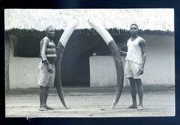 Cpa Carte Photo Du Dahomey Défenses D' Ivoire Provenance Succession Henri Poustier Administrateur Des Colonies  Sep17-15 - Dahomey