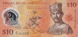 BRUNEI 10 DOLLARS 2011 P-37a XF S/N D/5 284008 [BN303a] - Brunei