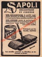 Sapoli Encaustique Et Cireuse - Illustration 7x9.5cm - Publicités
