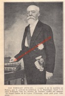 Président Doumer: Portret Officiel - France - 1932- Illustration 11.5x17cm - Documents Historiques