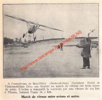 Aviateur Doret Vs Automobiliste Divo - Autodrome Montlhéry  - 1932- Illustration 11x11cm - Documents Historiques