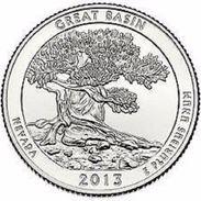 USA EEUU 25 CENTS. QUARTER DOLLAR GREAT BASIN 2013  D O P  A ELEGIR  UNC - PAS CIRCULÉE  - SC - 2010-...: National Parks