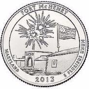 USA EEUU 25 CENTS. QUARTER DOLLAR FORT Mc HENRY 2013  D O P  A ELEGIR  UNC - PAS CIRCULÉE  - SC - EDICIONES FEDERALES