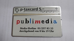 Switzerland-(kp-94/195c1)-publimedia-media-hotline-(601l)-1.000-used Card+1card Prepiad Free - Switzerland