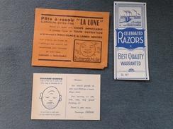 Lot De 3 Publicités Rasage - Rasoir - Pate à Rasoir - Rasoir électrique - - Werbung