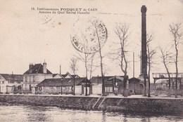 Carte Postale  : Caen (14)  Etablissements Fouquet De Caen         Annexes Du Quai Hamelin    Carte Rare - Caen