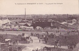 Carte Postale  : Caen (14)  Etablissements Fouquet De Caen        Vue Générale Des Entrepôts   Carte Rare - Caen