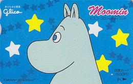 Carte Japon - BD Comics - HIPPOPOTAME MOOMINS -  MOOMIN HIPPO Japan Finland Rel Card - NILPFERD Tosho Karte - 351 - Comics