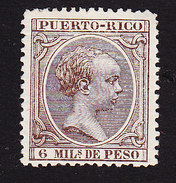 Puerto Rico, Scott #91, Mint Hinged, King Alfonso XII, Issued 1890 - Puerto Rico