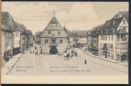 °°° 5128 - GERMANY - OBEREHNHEIM - MARKPLATZ MIT FRUCHTHALLE - 1908 With Stamps °°° - Elsass