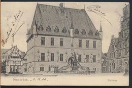 °°° 5131 - GERMANY - OSNABRUCK - RATHAUS - 1904 With Stamps °°° - Osnabrueck