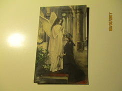 ANGEL , BEAUTIFUL MADE , IMPERIAL RUSSIA  , CONFIRMATION MOTIVE  , OLD POSTCARD , Ra - Angels