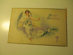 ANGEL EASTER GREETINGS , USA  , OLD POSTCARD , Ra - Anges