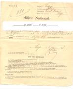 VIERSET - BARSE - Milice Nationale - Demande De Sursis 1937 - Liège  (b213) - Wetten & Decreten