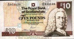 SCOTLAND 10 POUNDS 2007 P-353b UNC ROYAL BANK S/N D/77 9531128 [SQ353b2007] - [ 3] Scotland