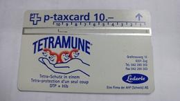 Switzerland-(kp-95/228)-lederle Arzneimittel-tetramune-(510l)-1.000-used Card+1card Prepiad Free - Suisse