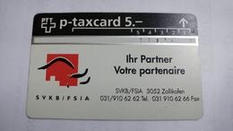 Switzerland-(kp-95/273)-SVKB/FSIA-(531l)-1.000-used Card+1card Prepiad Free - Suisse