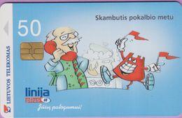 Télécarte Lituanie °° Nc- Linija - Skambutis Pokalbio Metu -2000- 09005 - Lituanie
