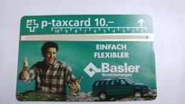 Switzerland-(kp-96/22a)-basler Versicherungen-(603l)-1.000-used Card+1card Prepiad Free - Suisse