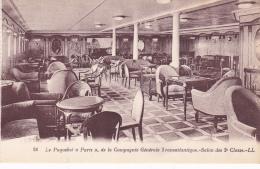 LE PAQUEBOT PARIS SALON DES 2EME CLASSES - Piroscafi