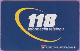 Télécarte Lituanie °° Nc- 118 - Informacija Telefonu -  736 - Lituanie