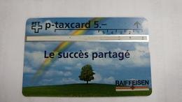 Switzerland-(kp-96/53)-Raiffeisen Bank-(603l)-5.000-used Card+1card Prepiad Free - Suisse
