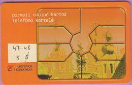 Télécarte Lituanie °° Nc- 47 – Pirmoji Naujos Kartos – Puce - 6495 - Lituanie