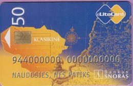 Télécarte Lituanie °° Nc - Klasikiné - Bankas Snoras-2206 - Lituanie