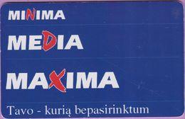 Télécarte Lituanie °° Nc - Minima Media Maxima-1925 - Lituanie