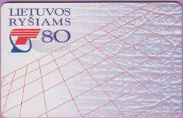 Télécarte Lituanie °° Nc - Minima Media Maxima-1925Télécarte Lituanie °° Lietuvos Rysiams – 80 - 9835 - Lituanie