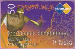 Télécarte Lituanie °° Nc -Tangomanija - Bankas Snoras - 9377 - Lituanie