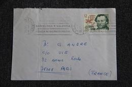 Timbre Sur Lettre D'ESPAGNE à PARIS. - 1931-Hoy: 2ª República - ... Juan Carlos I