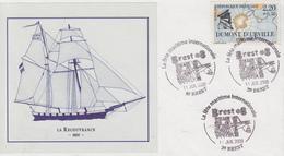 Enveloppe   La   Fête  Maritime  Internationale    BREST   2008 - Marcophilie (Lettres)