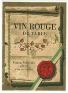 Rare // Vin Rouge De Table, Union Vinicole De Cully, Vaud // Suisse - Etiquettes