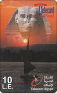 Aegypten Phonecard Sunset Sailing Monument - Aegypten