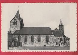 Fleurus - L'Eglise Et L'Hôtel De Ville - 1945  ( Voir Verso ) - Fleurus