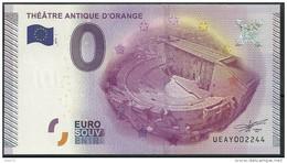 Billet Touristique  0 Euro 2015 Théâtre Antique D'Orange - EURO