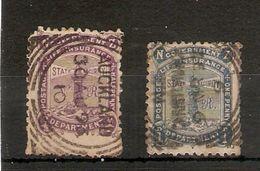 NEW ZEALAND 1891  ½d And 1d LIFE INSURANCE SG L1/L2 PERF 12 X 11½ USED - FINE POSTMARKS - Minimum Cat £10 - 1855-1907 Colonie Britannique