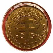 Afrique Equatoriale Française Libre : 50 Centimes 1942 - SPL - Colonies