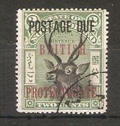 NORTH BORNEO 1906 2c POSTAGE DUE SAMBER STAG SG D50 PERF 16 FINE USED Cat £55 - North Borneo (...-1963)